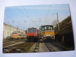 SUISSE-FRANCE : LIGNE DU TONKIN - EVIAN (74) TGV, Z 9509 Et Y 8120  Le 22 Février 1986 - Détails Sur Les 2 Scans - Trains