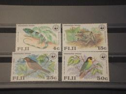 FIJI - 1979 WWF FAUNA 4 VALORI - NUOVI(++) - Fiji (1970-...)