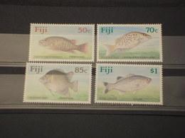 FIJI - 1990 PESCI 4 VALORI - NUOVI(++) - Fiji (1970-...)