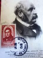 Carte Postale Carte-Maximum (CM) CPA France Marcophilie Lettre Ledru Rollin Timbre Seul Sur Lettre 1948 - Cartas Máxima