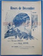 CAF CONC DÉDICACE AUTOGRAPHE PIANO CHANT GF PARTITION***JANE JOYE ROSES DE DÉCEMBRE GEORGES DROUX ILL POUSTHOMIS - Musique & Instruments