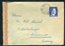 Allemagne - Enveloppe De Mosbach Pour Camp De Travail ( Arbeitslager) De Lucarno En Suisse En 1943 -  Réf M86 - Germania