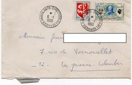 LSC 1969 - Cachet Direction Des Services AMBULANTS Sur YT 1572 & YT 1468 - Marcophilie (Lettres)