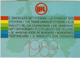 UIL - SINDACATO, 1989, COLORI, N/V - Gewerkschaften