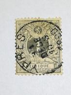 COB N ° 43 Oblitération Ypres 1890 - 1884-1891 Léopold II