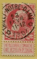 MW-3432   *  THIELT-NOTRE-DAME   *    OCB 74   Sterstempel    COBA  15 - 1905 Grosse Barbe
