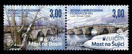 Bosnia And Herzegovina (Croatian) 2018 Mih. 480/81 Europa-Cept. Bridges MNH ** - Bosnien-Herzegowina