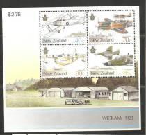 New Zealand 1987 Air Force Planes Wigram Airfield Miniature Sheet MNH - Nueva Zelanda