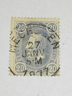 COB N ° 31 Oblitération Mechelen 1877 - 1869-1883 Léopold II