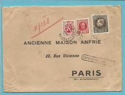 256+282+289 Op Brief Per EXPRES Met Stempel BRUXELLES Naar PARIS - 1929-1941 Grand Montenez