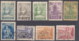 FIUME - 1919 - Lotto Di 9 Valori Usati: Yvert 32/34, 36/39, 43 E 44, Come Da Immagine. - 8. Occupazione 1a Guerra