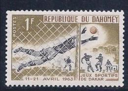 Benin(Dahomey), Scott # 173 MNH Soccer, Friendship Games, 1963 - Benin - Dahomey (1960-...)