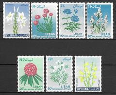 Lebanon 1964 - Flowers (Air Post Stamps) - Libanon