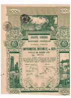 Ancien Titre - Regatul Romaniei- Ministerul Finantelor - Datoria Publica - Impruntul 5% 1920 - Obligation Déco - Bank & Insurance