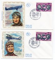 FDC France 1972 - Hélène BOUCHER - Maryse HILSZ - YT 47 Poste Aérienne - 92 Levallois-Perret - FDC
