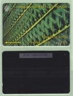 """Tonga - 1995 Second Issue - Textures - $5 Green  - TON-4e - """"318CTGA"""" - VFU - Tonga"""
