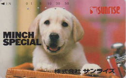 Télécarte Japon / 110-011 - ANIMAL - CHIEN - LABRADOR - DOG Japan Phonecard - HUND - 1307 - Chiens