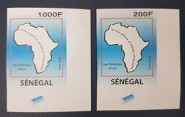 SENEGAL 2016 IMPERF ND NON DENTELE JOINT ISSUE AFRICAN HUB CORNER RARE MNH ** - Sénégal (1960-...)