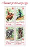 Sao Tome  2013 Fauna  Endangered Animals ,elephant , Orangutan - Sao Tome And Principe