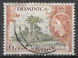 1954 Queen Elizabeth, 6 Cents, Used - Dominica (...-1978)