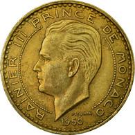 Monnaie, Monaco, Rainier III, 20 Francs, Vingt, 1950, TTB, Aluminum-Bronze - Monaco