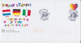 France 1999 Postal Stationary Bonjour L'Europe! Posted Strasbourg 1999 Philex France (C49**NB) - Letter Cards