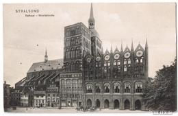 Ansichtskarte Stralsund Rathaus Mit Nicolaikirche 1908 - Stralsund