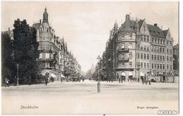 Postcard Stockholm Birger Jarlsgatan Ca 1904 1904 - Suède