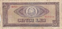 Roumanie - Billet De 5 Lei - 1966 - Roumanie
