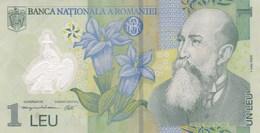 Roumanie - Billet De 1 Leu - 1er Juillet 2005 - Nicolae Iorga - Polymère - Roumanie