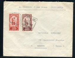 Maroc - Enveloppe De Casablanca Pour Amiens - Réf M157 - Briefe U. Dokumente
