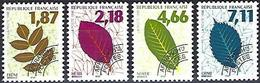 France 1996 -  Mi 3141/44 - YT Po 236/39  ( Precancelled : Leafs ) MNH** Complete Issue - 1989-....