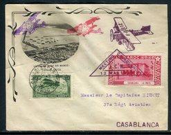 Maroc - Enveloppe Illustrée Du Meeting Aérien De Casablanca En 1929 , Voir Cachets Et Vignette - Réf M164 - Morocco (1891-1956)
