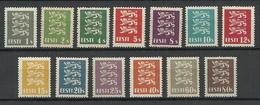 Estland Estonia 1928/29 Michel 74 - 86 MNH - Estland