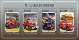 Sao Tome  2014 Fire Engines - Sao Tome And Principe