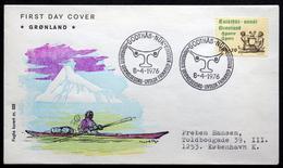 Greenland 1976 Cz.Slania     MiNr.97  FDC ( Lot Ks) FOGHS COVER - FDC