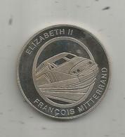 Médaille, Tunnel Sous La Manche , Channel Tunnel, 6 Mai 1994 , Elizabeth II , François Mitterrand ,frais Fr 3.15 E - Professionnels / De Société