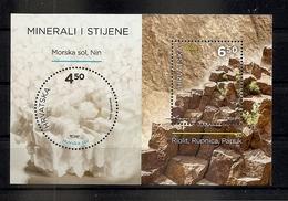CROATIA 2016,Minerals And Rocks, Rhyolite And Salt,,MNH - Minerales