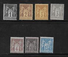 France Type Sage De 1876 N°83 A 90 Type II Neuf ** (n°86 Neuf *)   Cote 273€ - 1876-1898 Sage (Type II)