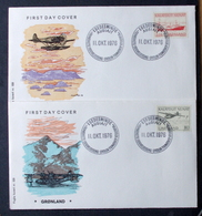 Greenland 1976  Postal Services  Cz.Slania  MiNr.98 -99  FDC ( Lot Ks) FOGHS COVER - FDC