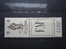 VEND BEAU TIMBRE DE FRANCHISE MILITAIRE DE FRANCE N° 10A + PUB , XX !!! - Franchigia Militare (francobolli)