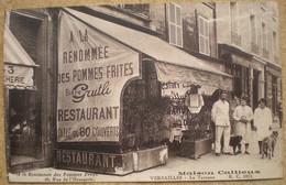 1 CPA Vierge 78 VERSAILLES Restaurant 45 Rue De L'orangerie à La Renommée Des Pommes Frites, Maison Cailleux - Versailles