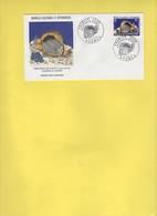 Poisson De Nouvelle Caledonie Chaetodon Melanotus Aquarium Noumea 1973 FDC - Fische