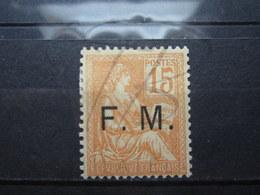 VEND BEAU TIMBRE DE FRANCHISE MILITAIRE DE FRANCE N° 1 , X !!! - Franchigia Militare (francobolli)