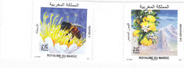 Morocco New Issue 2019 Flora & Bees 2v.cpl.set MNH- Nice Topical Issue - SKRILL PAY ONLY - Morocco (1956-...)