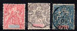 DAHOMEY - YT  N° 2 à 4 - Cote: 23,50 € - Dahomey (1899-1944)