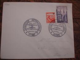 Reims Exposition Timbre Antituberculeux Obliteration Sur Lettre - Postmark Collection (Covers)