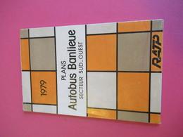 Plans Autobus Banlieue/ Secteur Sud-Ouest/ RATP/1979     PGC286 - Strassenkarten
