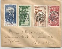 COTE D'IVOIRE SERIE SURTAXE ENFANCE LETTRE DALOA 23 NOV 1942 - Covers & Documents