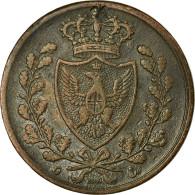 Monnaie, États Italiens, SARDINIA, Carlo Felice, 5 Centesimi, 1826, Torino - Monnaies Régionales